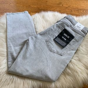AGoldE Sophie High rise skinny crop gray size 31